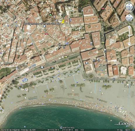 El Tranco del Mar: Posición de los Apartamentos