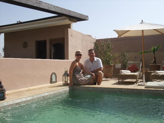 Riad Viva: The rooftop terrace - by the plunge pool