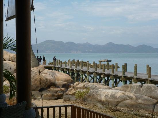 An Lam Ninh Van Bay Villas : Bootssteg