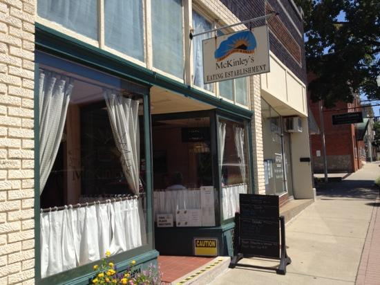 Mc Kinley's Bread Shop & Deli: On the left on the one-way Main Street