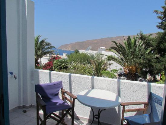 Gryspo's Hotel: Vue de la terrasse - ombragée aux heures les plus chaudes