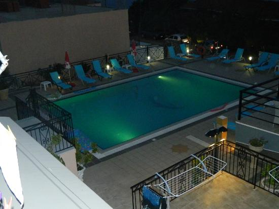 Saoulas Studios: Pool from above at night