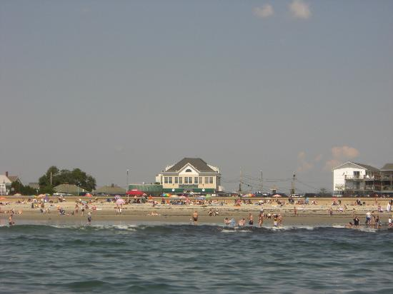 Ron's Landing At Rocky Bend: view from beach of Ron's Landing