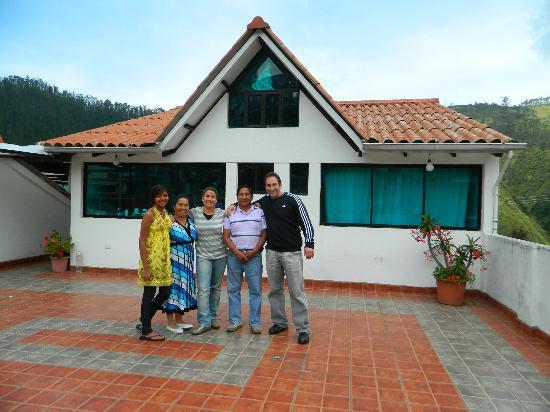 Hostal Guapulo Inti: Terraza