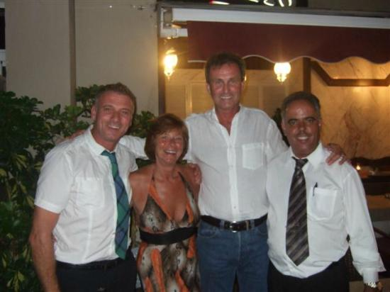 Veneto: My wife and I with Jacob and Carlos