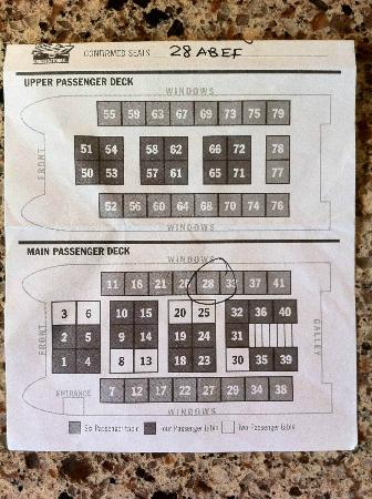 26 Glacier Cruise by Phillips Cruises and Tours: seating chart