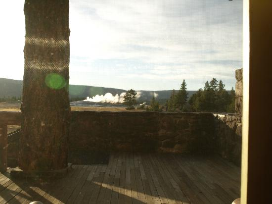 Old Faithful Lodge Cafeteria & Bake Shop: View from Cafeteria