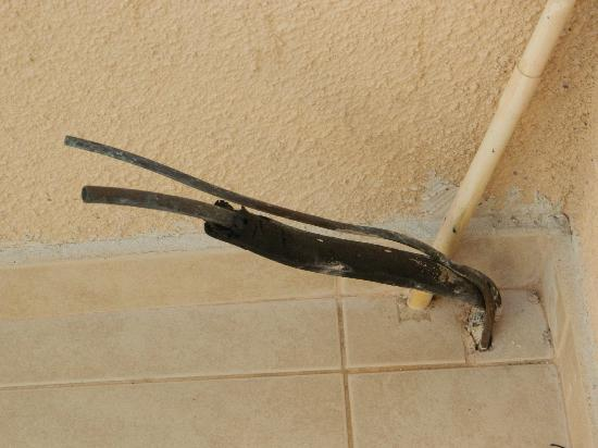 anthea-hotel-apts Exposed Wiring on