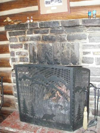 Storm Mountain Lodge & Cabins : fireplace