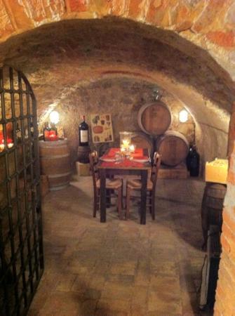 Bucine, إيطاليا: grotta per cena intima di coppia 