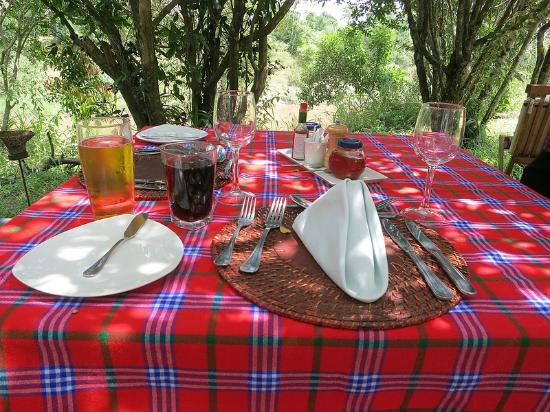 Mara Ngenche Safari Camp: lunch setup