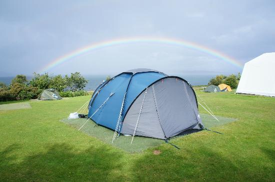 Shieling Holidays: Rainbow over our tent