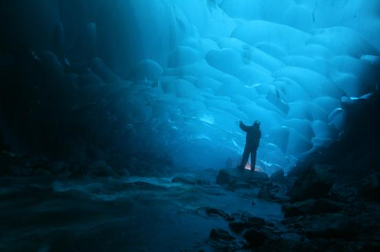 Above & Beyond Alaska: Ice cave under the glacier