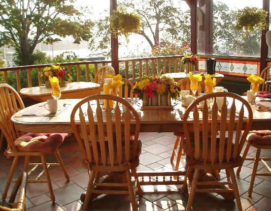 Across the Harbour Bed and Breakfast: B & B's breakfast set up.