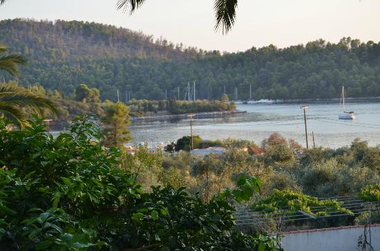Hotel Panormos Beach Skopelos: view from 1st floor room