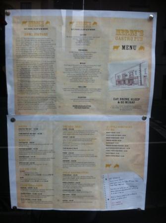 Merrys Gastro Pub: merrys menu
