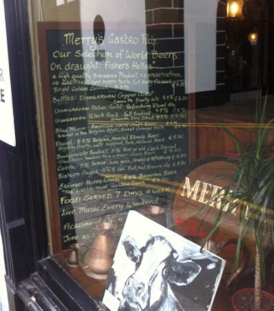 Merrys Gastro Pub: beer menu