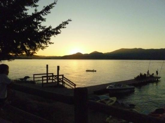 Forty One South: sunset over Lake Pend Oreille