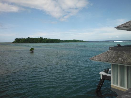 Koro Sun Resort and Rainforest Spa : View from Edge water villa