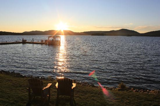The Woods Inn: views of fourth lake sunset