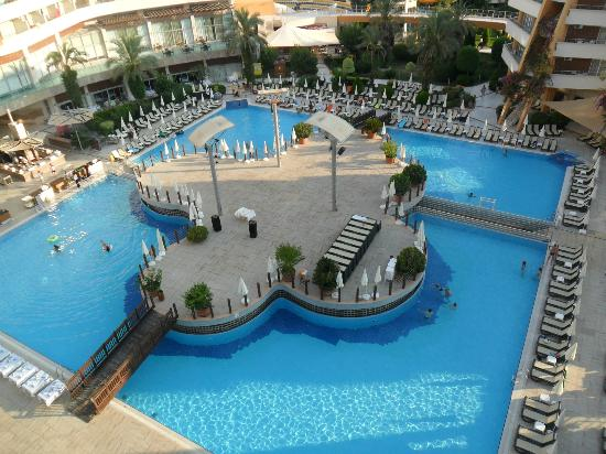 Alaiye Resort & Spa Hotel: View of the main hotel pool from top floor.