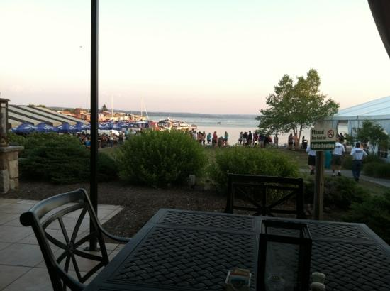 The Shore at The Inn on the Lake: view from my table