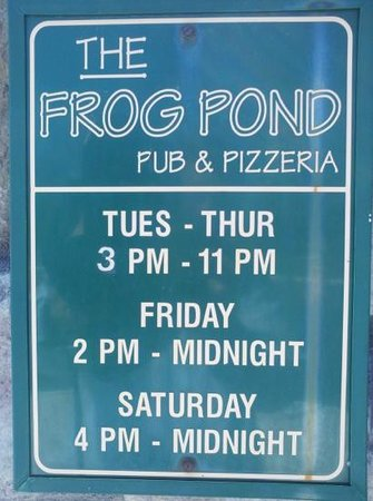 Frog Pond Pub & Pizzaria