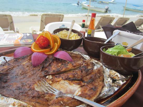 Playa Las Animas: la comida :P