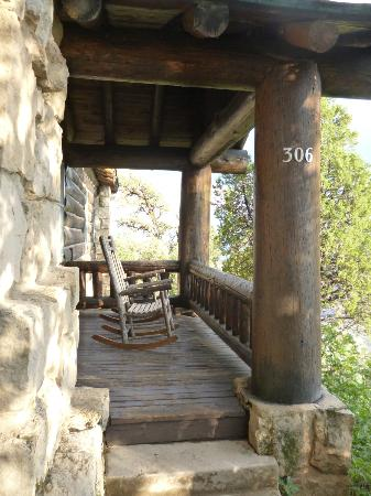 Grand Canyon Lodge - North Rim Front porch with two rocking chairs : two rocking chairs - Cheerinfomania.Com