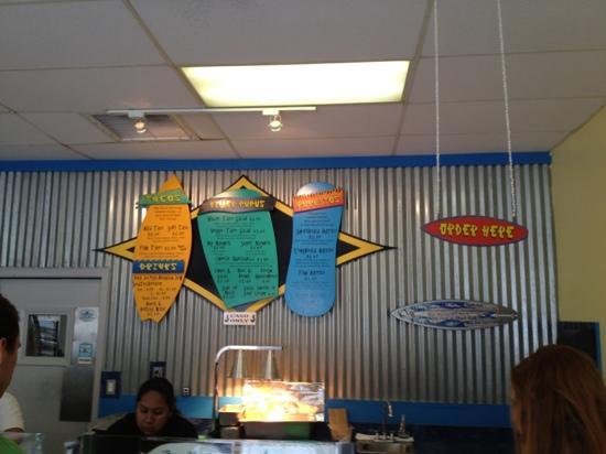 Killer Tacos Incorporated : menu