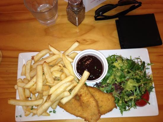 Cafe Ruba: chicken schnitzel