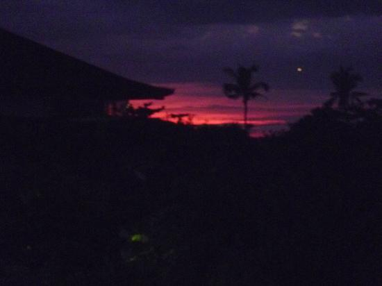 Adi Dharma Hotel: view of the sunset from our balcony