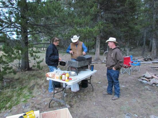 Klondike Ranch: cooking on the mountain - no fires because it was so dry