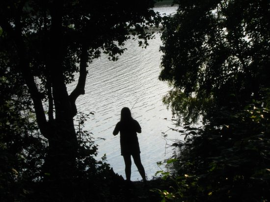 Trap Pond State Park: our own fishing spot