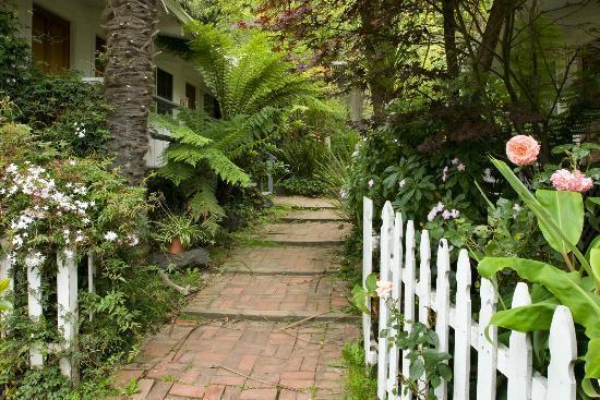 Smiley's Schooner Saloon: Path to the bungalow rooms