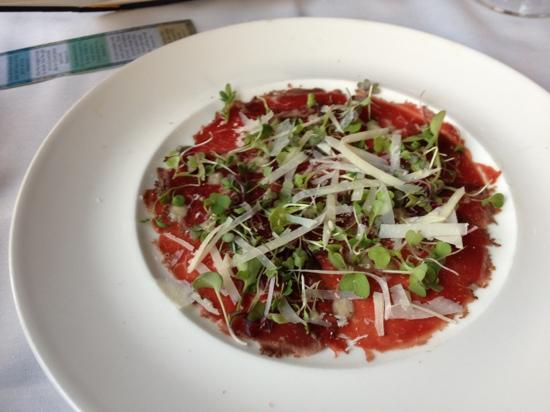 Rainbow Ranch Lodge Restaurant: appetizer-carpaccio.  it was awesome!