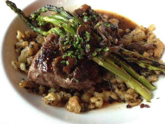 Rainbow Ranch Lodge Restaurant: entree-elk chop.  very tasty, wonderful sauce.