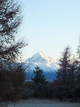Mount Cook Glentanner Park Centre: view from the campground at Glentanner
