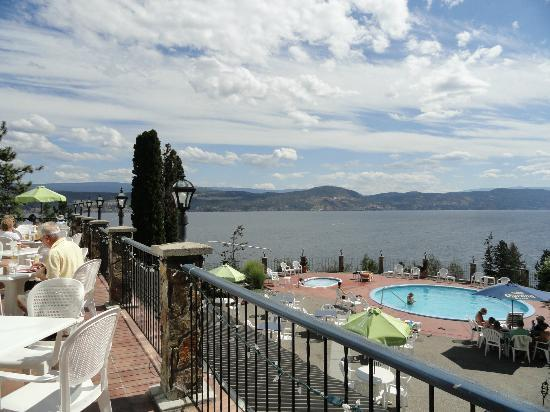 Lake Okanagan Resort: view from the restaurant patio