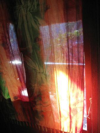 Adi Bungalow: Batik curtains on the windows