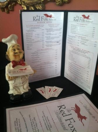 New Red Fox: the new foxy diner menu