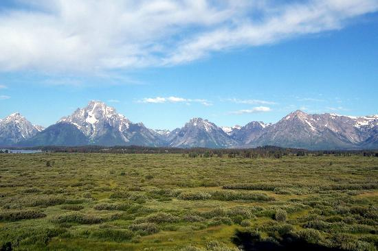 Teton National Forest: View from Jackson Lake Lodge