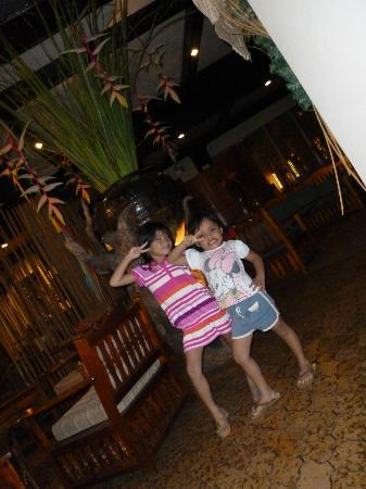 Lantaka Hotel-By-The-Sea: Nadine and Isai (nieces)
