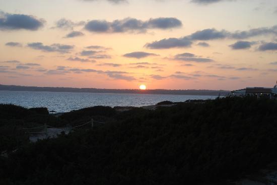 Las Dunas Playa: Puesta de sol