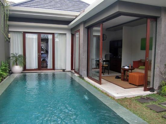 Seminyak Icon: One Bedroom Villa - View from daybed. Superb!