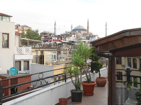 Hippodrome Hotel: view from the hotel where breakfast is taken