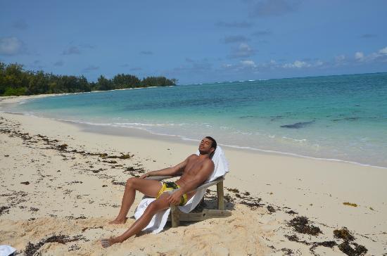 Denis Private Island Seychelles: playa en frente del bungalow