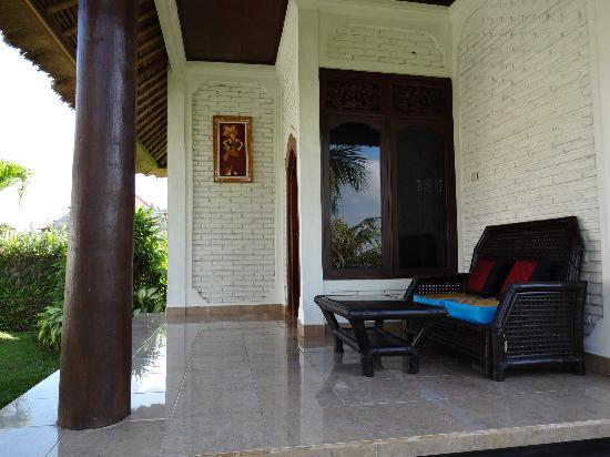 Terang Bulan Cottages: My porch