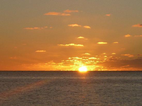 Etu Moana: Sunset from the sun lounge 