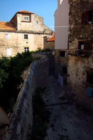 Old Town Accomodations: View from twin room, 2nd floor